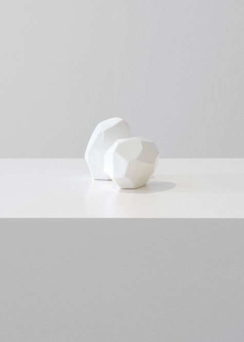 Bruce McLean, Two carefully peeled potatoes in porcelain, 2020 Porcelain, 7×13×8 cm, 2¾×5¼×3¼ in, Edition of 100